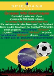 WM-Gewinnspiel in der Spielbank Mainz.