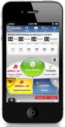 Hauptansicht der App zur Abgabe der FreeWin-Tipps oder zum Spielen eines echten Tippfeldes Lotto 6aus49.