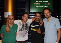 Die Turniersieger v.l.n.r.: Cemal D., Fabrizio C., Ivson S. und Frank P.