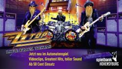"Musik-Legenden in der Spielbank Hohensyburg: Music Slot ""ZZ Top live from Texas™"" ab 30. August neues Highlight im Automatenspiel. (Foto: Bally Technologies)"