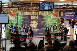 In der Gauselmann-Arena wurden die Top-Spiele der Deutschen Meisterschaft – hier das Finale Wild Card Wiesbaden gegen KGB Hannover – ausgetragen.