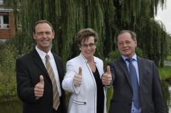 Das neue Spielbankdirektorium (v.l.): Peter Laschkowsky, Claudia Bieling und Reinhard Wehner.