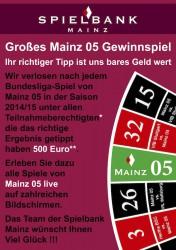 Mainz 05 - Gewinnspiel in der Spielbank Mainz