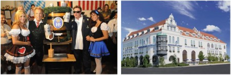 """""""Ozapft is"""" – auch in Las Vegas! Wie im Bild von 2012 lassen es sich Siegfried & Roy auch in diesem Jahr nicht nehmen am """"Oktoberfest Kick Off"""" im Hofbräuhaus Las Vegas mit dabei zu sein. (Bildquelle: Hofbräuhaus Las Vegas)"""