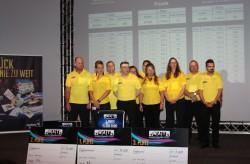 Das engagierte WestSpiel-Team bereitete den 300 Finalisten aus ganz Deutschland in der Spielbank Hohensyburg ein hochspannendes WAT-Finale 2014. (Foto: WestSpiel)