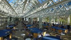 Es ist angerichtet für das Finale der WSPT 2014 – 30 Turniertische warten im Lenné Pavillon der Spielbank Aachen auf den Ansturm von Pokerfans aus der ganzen Republik. (Foto: WestSpiel)