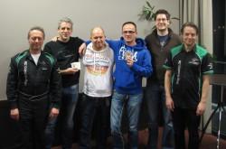 V.l.n.r.: Bernd Heider (Poker-Team Ring Casino), Oliver Schmitt, Jochen Pfeifer, Jürgen Knauer, Andreas Hubertz, Marcel Preußner (Poker-Team Ring Casino). (Foto: Spielbank Bad Neuenahr GmbH & Co. KG)