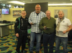V.l.n.r.: VIP Poker der Top Ten: Anatoli Melchior (Poker-Team Ring Casino) , Josef Westphal, Karl Krämer, Jochen Pfeifer. (Foto: Spielbank Bad Neuenahr GmbH & Co. KG)
