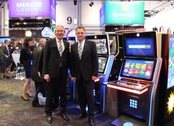 Jürgen Stühmeyer (Member of the Board of the Gauselmann Group) and Jens Halle (CEO Merkur Gaming).