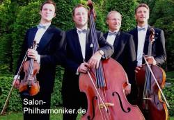 Das Ensemble der Leipziger Salon-Philharmoniker tritt in der Merkur Spielbank Leuna- Günthersdorf auf.