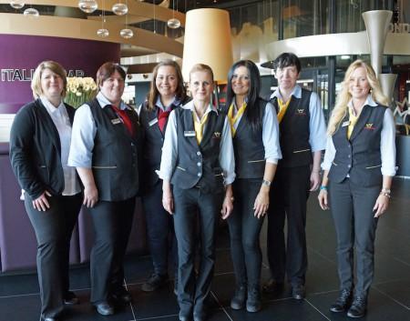 Roswitha Probst, Petra Schnuck und das Service-Team der Spielstation hießen die Gäste aus Legden-Asbeck herzlich willkommen.