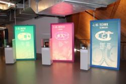 """Die Ausstellung """"Technik, Mensch, Natur"""" gliedert sich in drei Bereiche und lädt zum Mitmachen und Staunen ein."""