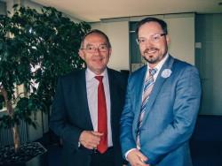 V.l.n.r. Minister Dr. Walter-Borjans, LTV Geschäftsführer Tobias Buller