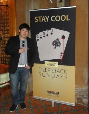 Der zweitplatzierte Gewinner Jia Tse