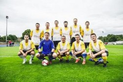 Die Mannschaft der Deutschen Automatenwirtschaft beim Fußballturnier des Deutschen Bundestages.