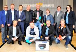 Preisverleihung an die besten Trainer des Bundesliga-Trainerspiels.