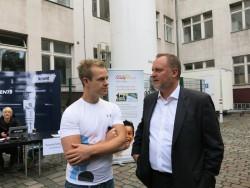Johnnes Kirsch und Stadtrat Falko Liecke