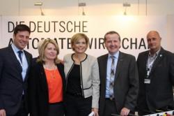 Von links nach rechts: Christian Quandt, Elisabeth Gräff, Julia Klöckner, Jörg Meurer und Ralf Bastian.