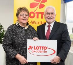 Lotto-Geschäftsführerin Marion Caspers-Merk und Erwin Horak, Präsident von Lotto Bayern.