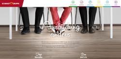 Die Startseite der neuen Azubi-Homepage.