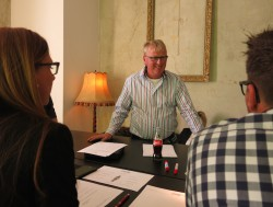 Gruppengespräch mit Torsten Hannemann.