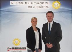 Die Karriereakademie der Spielemacher wird von Kristin Lange, zuständig für das Schul- und Ausbildungsmarketing (l.), und Lars von der Wellen, Leiter Personalmarketing bei der Gauselmann AG, geleitet.