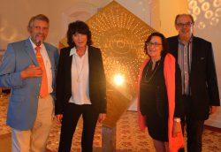 V.l.n.r.: Paul Gauselmann, Anette Piene-Württemberger, Angelika Gauselmann und Hans-Gerd Tantius. (Foto: Christian Winsel, Foto Pescht)