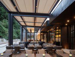 Der Gastronomiebereich im neuen Glas-Pavillon. (Foto: Dirk Altenkirch)
