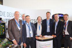Im Gespräch mit der MIT NRW (v.l.n.r. Herr Klaus-Dieter Leßmann (FORUM), Herr Alexander Eisinger (Löwen-Entertainment), Herr Horst Hartmann (DAV), Herr Nico Ernstberger (DAW), Herr Dr. Günter Krings (MIT & MdB), Herr Carsten Linnemann (MIT-Bundesvorsitzender & MdB), Herr Andreas Ehlert (MIT). (Foto: MIT NRW)