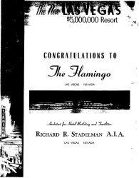Ganzseitige Anzeige, in der Las Vegas Sun, zur Eröffnung des Flamingo im Dezember 1946. (Bild: Richard R. Stadelman / CC BY-SA 3.0)