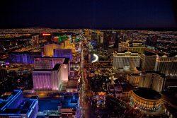 Der heutige Las Vegas Strip bei Nacht. (Foto: Library of Congress, Prints & Photographs Division, photograph by Carol M. Highsmith)