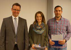 Vizepräsident Jan-Henrik Fock gratulierte Tessa Hundsdorff und Christian Köllner