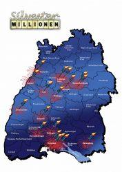 18 Mal 1 Million Euro: Die Glücksraketen zeigen, in welchen baden-württembergischen Regionen die bisherigen Spitzengewinne der Silvester-Millionen erzielt wurden. Wo wird an Silvester 2016 über erstmals vier Millionengewinne gejubelt?
