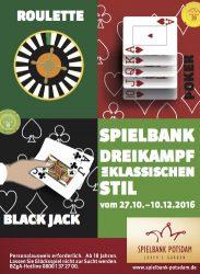"""Key Visual und Anzeigenmotiv """"Dreikampf"""" der Spielbank Potsdam. (Grafik: BSB)"""