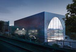 Die beiden Siegerentwürfe für das Kölner Casino. Das Konzept auf diesem Foto stammt von Allmann Sattler Wappner Architekten GmbH, der andere Entwurf ist von der AIP Planungs GmbH.