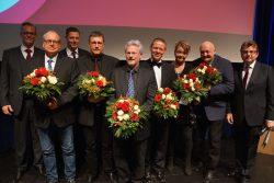 Karl Heinz Volks, Günter Bellmann, Martin Sprey und Ralf bei der Kellen  wurden für 30-jährige Betriebszugehörigkeit geehrt. Die Geschäftsführung  gratulierte Christian Tepe zum 25-jährigen Jubiläum und Melanie Weniger  zum 20-jährigen Jubiläum.