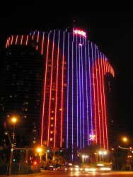 Der bekannte Masquerade Tower des Rio All Suite Hotel & Casino.