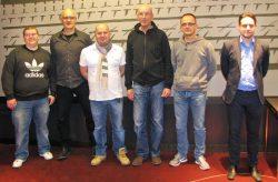 V.l.n.r.: Sergej Gurov, Jörg Schwanenberg, Jochen Pfeifer, Udo Radmer, Jürgen Knauer, Marcel Preußner, Betriebsleiter des Ring Casinos. (Foto: Spielbank Bad Neuenahr GmbH & Co. KG)