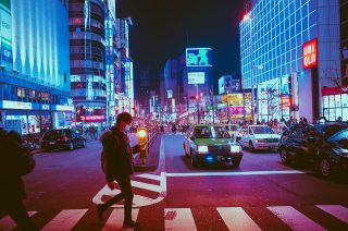 Osaka mitten in der Nacht