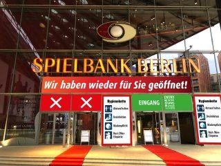 Front Plakatierung Wiedereröffnung Spielbank Berlin