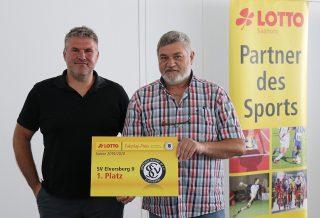 V.l.n.r. Jens Kiefer, Trainer U19 SVE und Jürgen Schuh – Jugendleiter SVE.