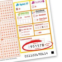 Wer hat diese sechsstellige Ziffernfolge im Spiel 77 auf seiner Spielquittung, mit der am 6. Juni der Gewinn in Alsfeld erzielt wurde?
