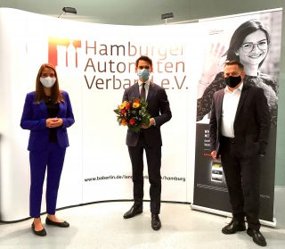 V.l.: Jennifer Broocks, Dr. Christoph Ploß MdB, Dr. Roland Heintze (Foto: DAW/AWI)