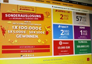 Über das Onlineportal www.lottomv.de räumte am Samstag ein Spielteilnehmer 100.000 Euro ab. Derzeit haben alle 6aus49-Tipper die Chance auf Extra-Gewinne über die regionale Sonderauslosung per Internet oder über die LOTTO-Annahmestellen des Landes. (LOTTO MV/Jana Stranghöner)
