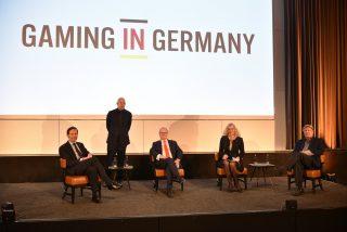 IMGL Masterclass mit (von links) Peter-Paul de Goeij, Willem van Oort, Dr. Jörg Hofmann, Birgitte Sand, Pieter Remmers.