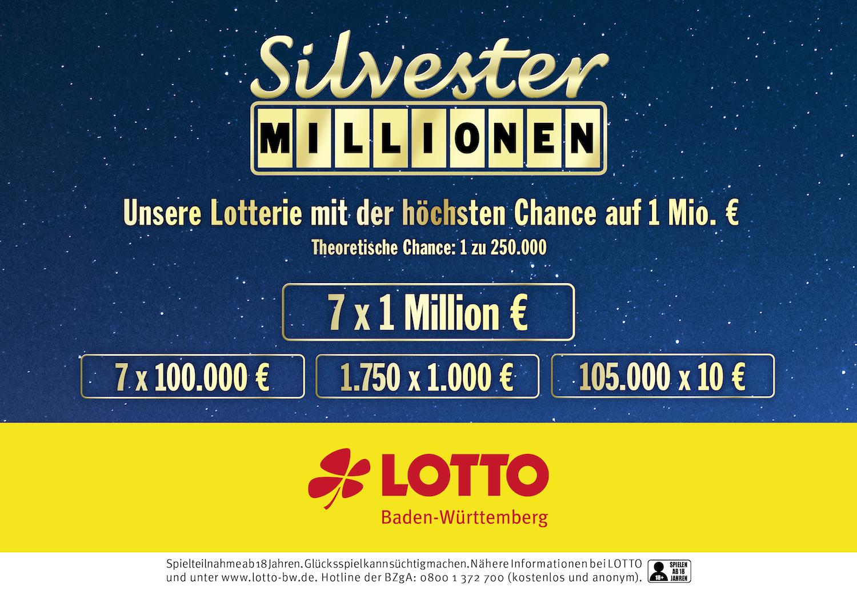 Silvester Millionen Baden WГјrttemberg 2021
