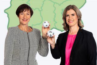 Die Geschäftsführung der LAND BRANDENBURG LOTTO GmbH: Anja Bohms (l.) und Kerstin Kosanke. (Foto: LOTTO Brandenburg)