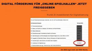 Digital Förderung für Online-Spielhallen