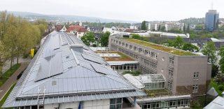 Photovoltaikanlage auf dem Dach der Lotto-Zentrale. (Foto: Lotto Baden-Württemberg)
