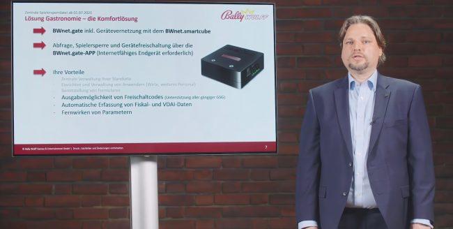 Peter Nötzold, Produkt- und Projektmanagement stellt die BWnet.gate Lösungspakete vor
